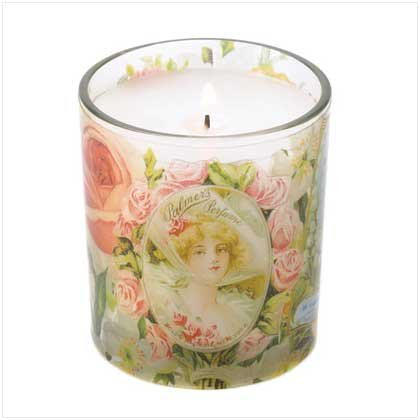 Rose Scented Victorian Nostalgia Blooms Jar Candle