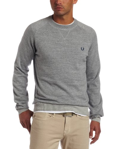 Fred Perry Men's Vintage Marl Crew Neck Sweater
