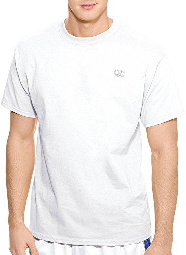 Champion Cotton Jersey T-Shirt, XL, White