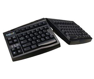 KeyOvation Goldtouch Adjustable Keyboard - USB - QWERTY - Black