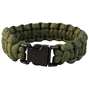 Tactical Paracord Wrist Band Bracelet Cord Camping Hiking Emergency Survival Olive 22mm from Mil-Tec
