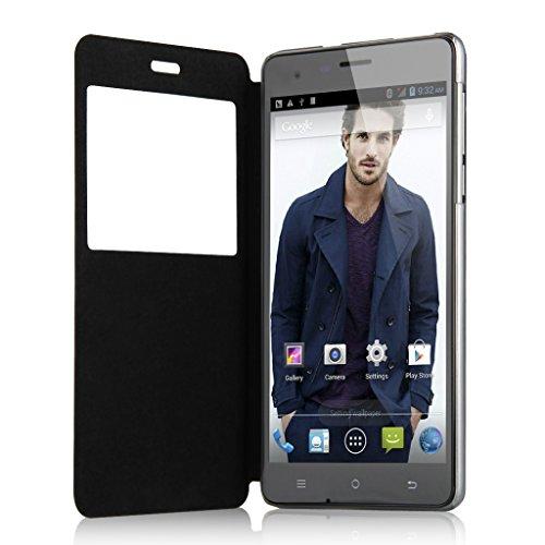 "CUBOT S350 5,5"" Zoll IPS HD Screen 3G Smartphone Quad Core 1.3GHz Dual SIM 2G+16G Dual Kameras Android 4.4 Handy ohne Vertrag GPS Bluetooth 4.0 WIFI Schwarz"