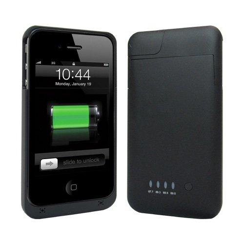 +M Battery iPhone4/4S FMトランスミッター付き バッテリー搭載ケース ブラック [MB05-BK]