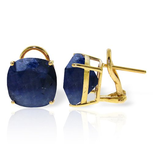 14k-Solid-Gold-966ct-Sapphire-French-Clip-Earrings