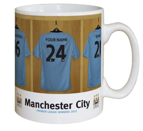 Manchester City FC Personalised Mug - PLEASE LEAVE PERSONALISATION DETAILS AT THE GIFT MESSAGE OF THE AMAZON CHECKOUT WHEN ORDERING OR SEND AMAZON MESSAGE WITH DETAILS AFTER ORDERING