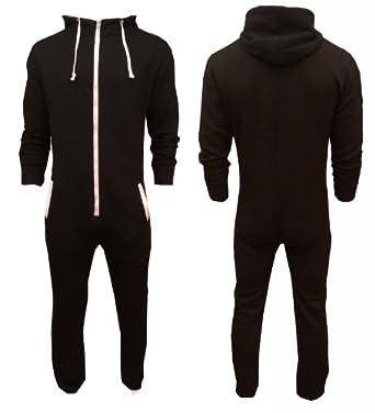 Mens black soft all in one sleepsuit onesie s black for Mens dress shirt onesie