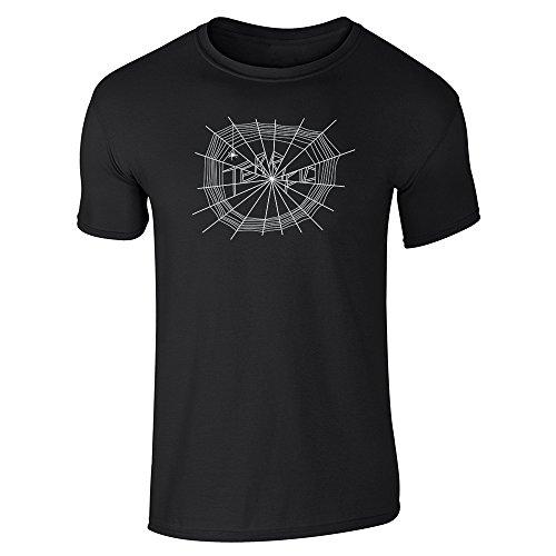 Pop Threads Charlotte's Terrific Web Black S Short Sleeve T-Shirt
