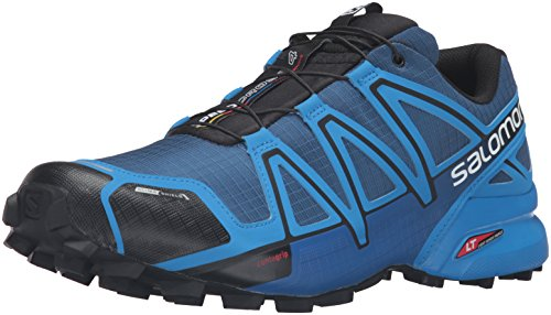 Salomon Men's Speedcross 4 CS Trail Runner, Blue Depth/Bright Blue/Black, 8.5 D US (Speedcross Cs Salomon compare prices)