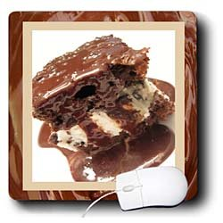 Susan Brown Designs Dessert Themes - Hot Fudge Sundae Cake - Mouse Pads