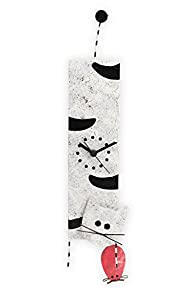 Oxidos Recycled Fair Trade Hanging Cat Clock (Black/White)