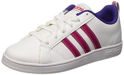 Adidas Advantage Vs K Scarpe Low-Top, Bambine e ragazze, Bianco (Ftwwht/Bopink/Cpurpl), 37 1/3