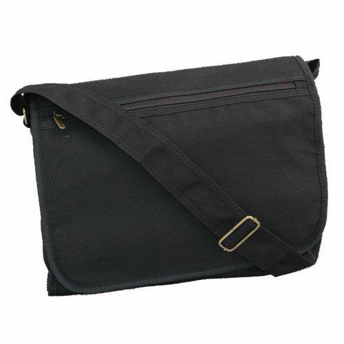 GODREVY LARGE STUDENT CANVAS A4 RINGBINDER MESSENGER BAG