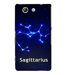 Fuson 3D Printed Sunsign Sagittarius Designer back case cover for Sony Xperia Z4 Compact - D4466