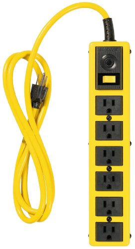 Yellow Jacket 5139 Metal Power Strip with 6-Foot Cord, 6-Outlet