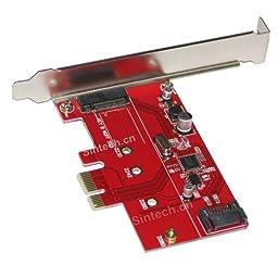 Sintech M.2 NGFF B-M Key SSD SATA 3 HDD to PCI-e Express Controller Adapter Card