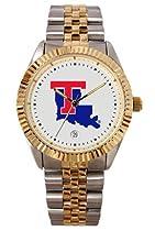 Louisiana Tech University Bulldogs Mens Executive Stainless Steel Watch
