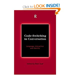 code switching  the social sciences