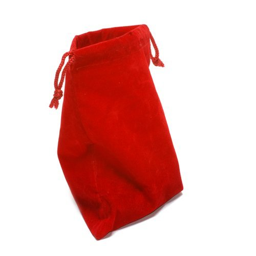 "4""X 5"" Red Cloth Dice Bag"
