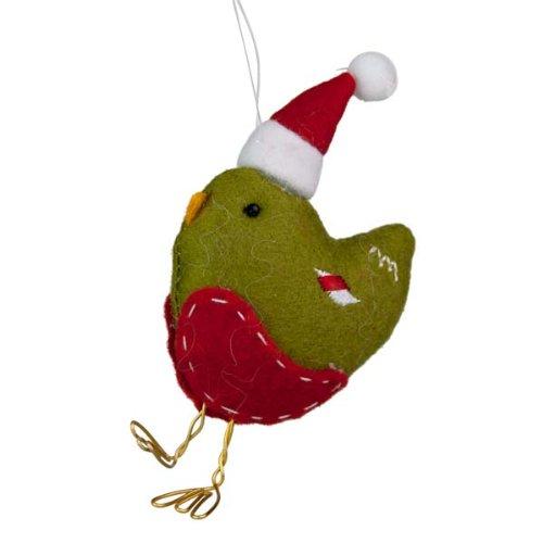 gisela-graham-decoration-pour-sapin-de-noel-en-feutre-rouge-lot-de-2