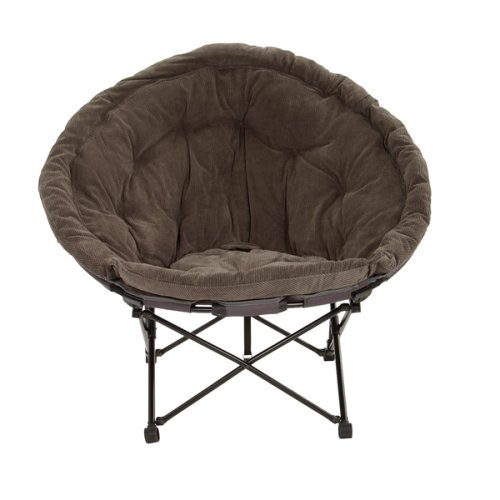Sphere Corduroy Chair - Hot Coffee