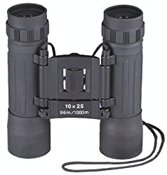 Black Compact Binoculars - 10 x 25 Millimeter