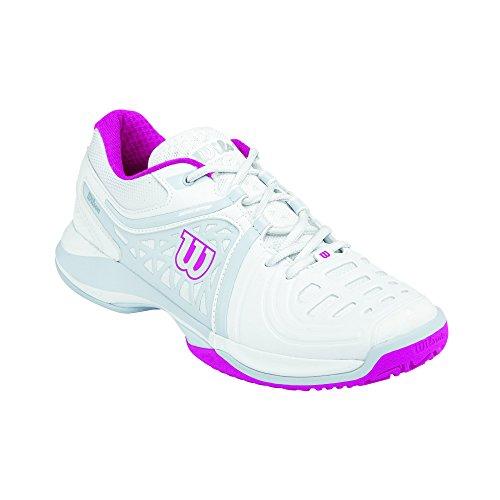 Wilson NVISION ELITE WOMAN, Scarpe da tennis donna, Multicolore (Mehrfarbig (White / Pearl Grey / Fiesta Pink)), 41