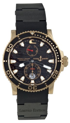Ulysse Nardin Men's 266-37LE/3B Maxi Marine Diver Black Surf Watch