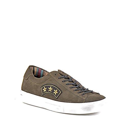Felmini - Scarpe Donna - Innamorarsi com Fame A290 - Sneakers Militare - Pelle Genuina - Verde - 37 EU Size