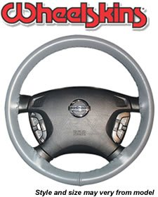 Wheelskins Original Genuine Leather Steering Wheel Cover - Size AXX (Black)