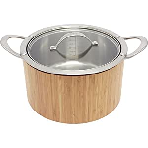 CAT CORA by Starfrit Stainless Steel Cook N Serve Casserole, 3.8-Quart