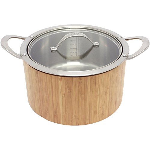 CAT CORA by Starfrit Stainless Steel Cook N Serve Casserole, 3.8-Quart (I Quart Sauce Pan compare prices)