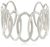 Silver Diamond Cuff Bracelet (0.50 cttw, I-J Color, I2-I3 Clarity) from Amazon Curated Collection
