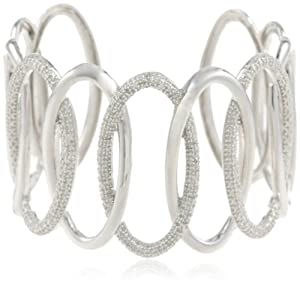Silver Diamond Cuff Bracelet (0.50 cttw, I-J Color, I2-I3 Clarity)