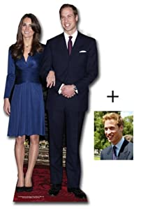 "*Commemorative Pack* Prince William and Kate Middleton - British Royal Wedding 2011 - Lifesize Cardboard Cutout / Standee / Standup - Includes 8x10"" Prince William Photo"