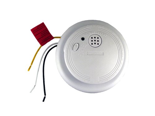 Universal Security Instruments USI-1103 120-Volt AC/DC Wired-In Ionization Smoke and Fire Alarm with Silence Feature and Lithium Battery Back-Up