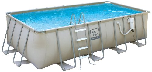 Not So So Polygroup Nb2046 Pro Series Rectangular Metal Frame Swimming Pool 9 By 18 Feet