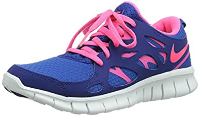nike free run 2 pink and blue