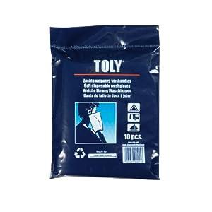 Toly guantes desechables de lavado (4 packs, cada uno con 10 artículos) marca Cleanseat UK Limited