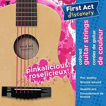 First Act Discovery Girls Guitar Strings - Pinkalicious - 1