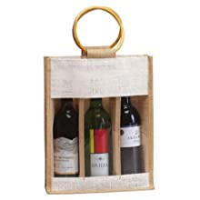 Ddi 3 Wine Bottle Jute Bag (Pack Of 12)
