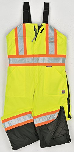 Richlu - S79821-3XL-FLGR - Hi-Vis Insulated Bibs, Flo Green