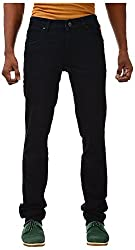 Casinova Men's Slim Fit Jeans (CJ_100-30, Black, 30)