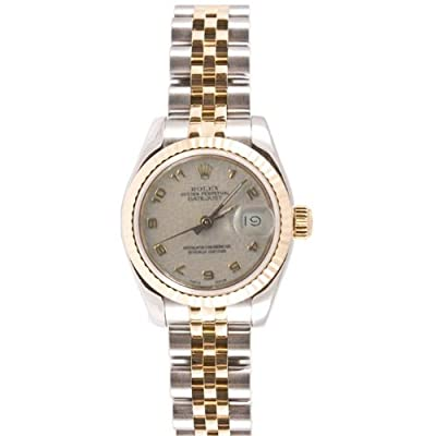 Rolex Ladys 179173 Datejust Steel & 18k Gold, Jubilee Band, Fluted Bezel & Ivory Arabic Dial
