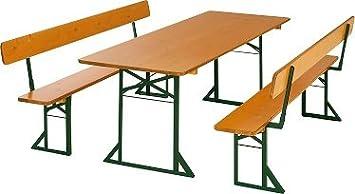 """'""""esterni giardino birreria qualità birreria 1A con panche 67cm larghezza tavolo per permanente esterno da 3volte dickschich tlassierter barca vernice, dimensioni: 220x 67cm"""