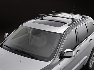 2011 JEEP GRAND CHEROKEE ROOF RACK CROSS RAIL BARS OEM MOPAR-Thule Cargo Box For Sale