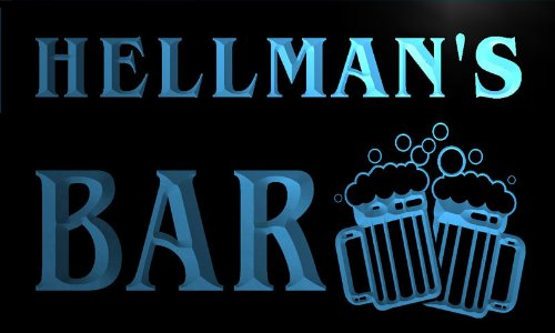 w006924-b-hellman-name-home-bar-pub-beer-mugs-cheers-neon-light-sign