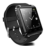 5ive® Luxury U8 Bluetooth 2.0 Smart Watch Wrist Wrap Watch Phone for Android Samsung S2/S3/S4/S5/S6/Note 2/Note 3/Note 4 HTC etc Support Part Functions for iPhone(Black)