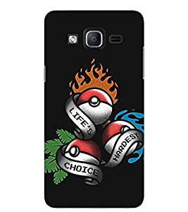 Evaluze pokemon ball Printed Back Cover for SAMSUNG GALAXY ON5 2015