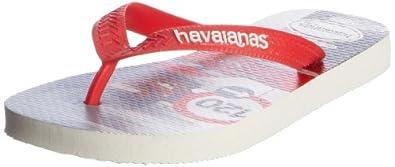 Havaianas Boys' Cars Flip Flops White 1/2 UK (EU 35/36)