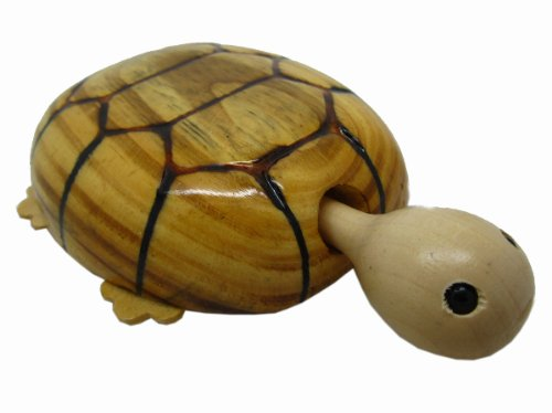 WOODEN SHAKING HEAD WAGGING TAIL TORTOISE TURTLE CAR TOY GIFT